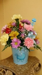 Baby Boy Pail of Flowers