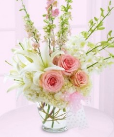 Baby Girl Vase arrangement  in Monument, CO | ENCHANTED FLORIST