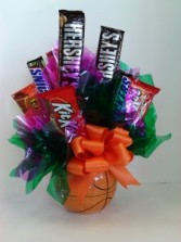 Basket Ball  Candy Bouquet  in Fairbanks, AK | A BLOOMING ROSE FLORAL & GIFT