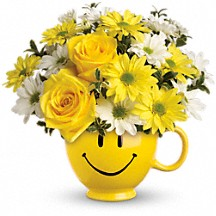 BE HAPPY MUG  in Fort Lauderdale, FL | ENCHANTMENT FLORIST