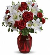 Be My Love Vase Arrangement in Hockessin, DE | WANNERS FLOWERS LLC