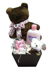 Beary Girl Baby Basket   in Birmingham, AL | ANN'S BALLOONS & FLOWERS