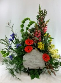 Beautiful Heart  Memory Stone Bouquet with keepsake easel