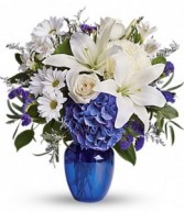 BEAUTIFUL IN BLUE Arrangement of Flowers