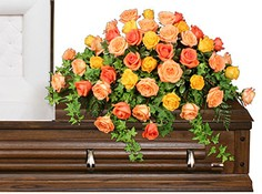 BEAUTIFUL ROSE BENEDICTION Funeral Flowers in Savannah, GA | RAMELLE'S FLORIST