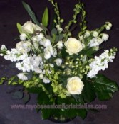 Beautiful White Arrangement Fresh floral in Dallas, TX | MY OBSESSION FLOWERS & GIFTS