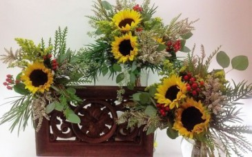 .Wedding Flowers .Autumn hand tied bouquets