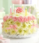 Birthday Cake Pastel Birthday Arrangement in Miami, FL | THE VILLAGE FLORIST