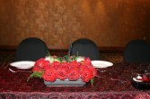 Black and Red Bride's Table Arrangement