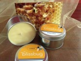 Blissbug Candle Tin Hand poured bees wax candle