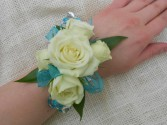 Blue and White Delight Prom Corsage