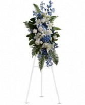 Blue and White serenity Standing Spray