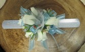 Blue corsage Wrist corsage in blue