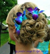 Blue orchid hair accents