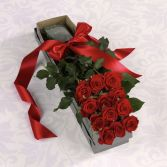 Boxed Dozen  Fresh Roses
