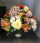 Bright and Peachy Fresh Centerpiece
