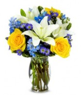 Bright Blue Skies Fresh Arrangment