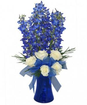 Brilliant Blue Bouquet of Flowers in Danbury, CT | JUDDS FLOWERS