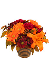 Rustic Orange and  Cranberry Flowers