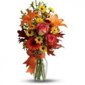 Burst of Autumn  Flower Arrangement (TFL02-2A) in Fairbanks, AK | A BLOOMING ROSE FLORAL & GIFT