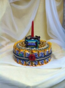 Candy Bar Cake Gift Items