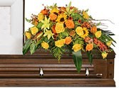 CS 21-Casket spray of Mixed flowers Also available in other colors and sizes