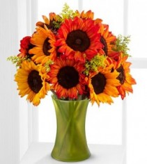 Catch Some Color Fall Sunflower Bouquet