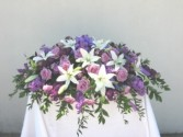 CC13 Purple and White Casket Cover