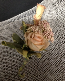 Champagne and Roses Boutonniere