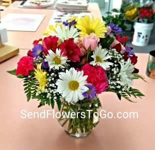 Cheerful Blossoms Vase Arrangement