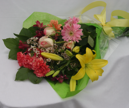 Chris' Pick; Bright Bouquet Wrapped Flowers
