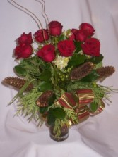 CHRISTMAS PINES IN TIME  Holiday Greetings Flowers   Prince George BC Florists:   AMAPOLA BLOSSOMS