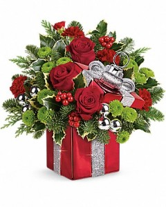 Christmas Present Bouquet  in Dayton, OH | ED SMITH FLOWERS & GIFTS INC.