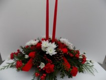 Christmas Traditions Centerpiece Double Taper Centerpiece