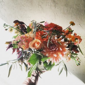 Citrus Autumnal Vase Arrangement