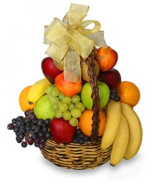 Classic Fruit Basket Gift Basket in Charlotte, NC | L & D FLOWERS OF ELEGANCE