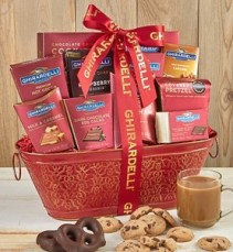 Classic Ghirardelli Gift Basket For Ghirardelli Chocolate Lovers!