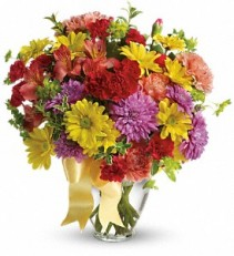 Color Me Yours Bouquet Birthday Vase