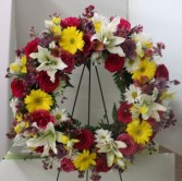 Colorful mixed Wreath Standing Spray