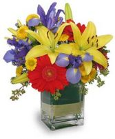 COLORS ON PARADE Flower Arrangement