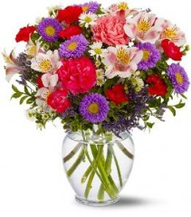 Colourful spring vase any