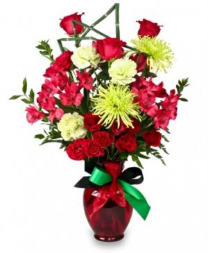 Contemporary Cheer Kwanzaa Flowers in Castleton On Hudson, NY | BUD'S FLORIST & GREENHOUSES