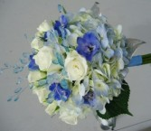 COOL BLUE AND WHITE Prom Nosegay