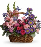 County Basket Blooms Basket Arrangement