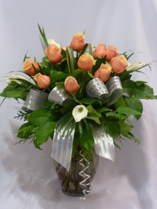 CREAM & PEACHES-  BABY FLOWERS, ROSES & GIFTS in Prince George, BC | AMAPOLA BLOSSOMS FLORISTS