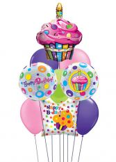 Cupcake Birthday Balloon Bouquet in Birmingham, AL | ANN'S BALLOONS & FLOWERS