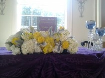 Dainty Head Table Centerpiece