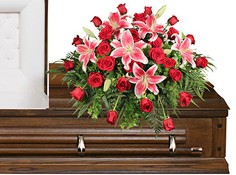 DEDICATION OF LOVE Funeral Flowers in Marion, IA | ALL SEASONS WEEDS FLORIST 