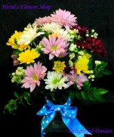 Delightful Daisies Fresh Vased in Terre Haute, IN | HEINL'S FLOWER SHOP