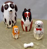 Adorable Dogs Nesting Dolls